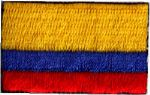 Colombia Embroidered Flag Patch, style small (discontinued)